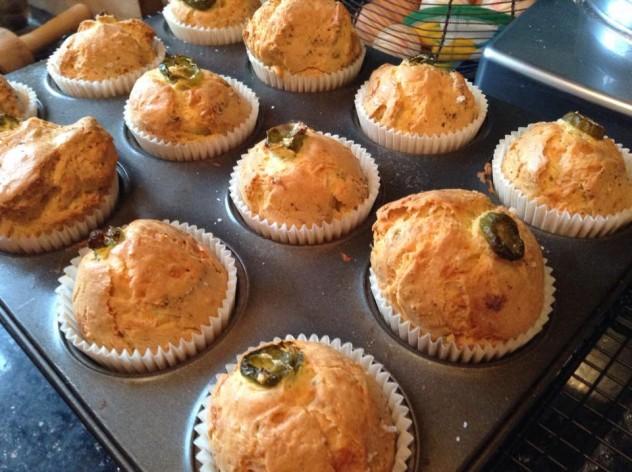 Cheddar & Jalapeno Muffins